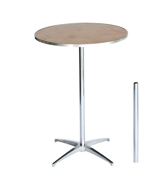 """30"""" Round Plywood Cocktail Table Kit with Metal Edge"""