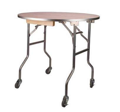 36″ Round Rolling Cake Table with Caster Wheels