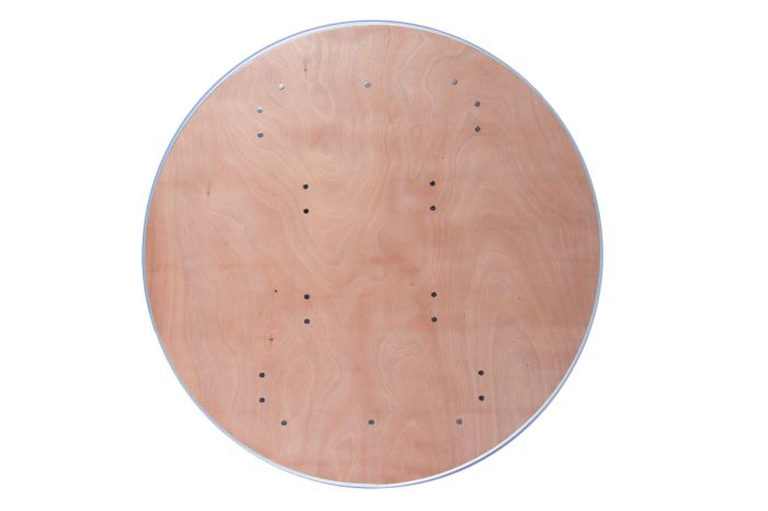 """48"""" Round Heavy Duty Banquet Table with Metal Edges 1"""