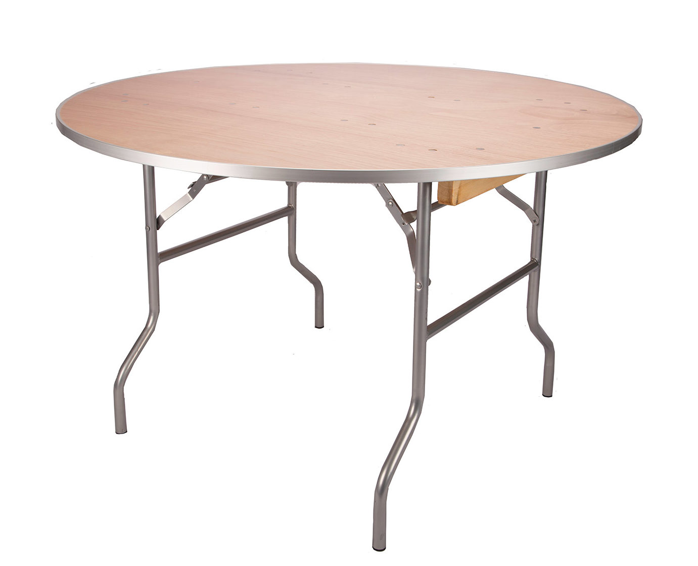 """48"""" Round Banquet Table with Metal Edges"""