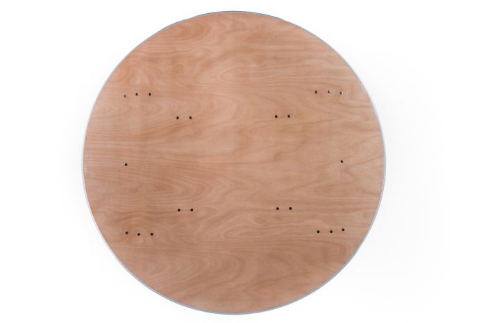 """60"""" Round Heavy Duty Banquet Table with Metal Edges 1"""