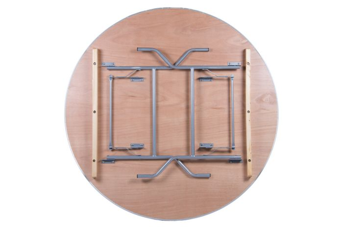 """60"""" Round Heavy Duty Banquet Table with Metal Edges 2"""