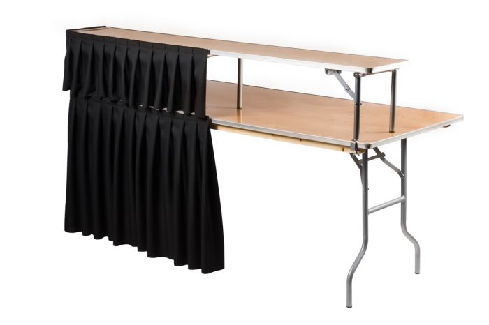 "72"" Complete Rectangle Dry Bar with Black Linen 1"