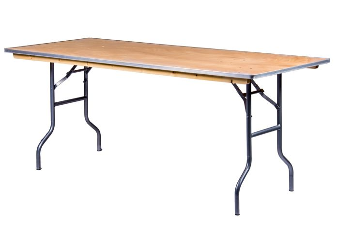 """72""""x30"""" Rectangle Heavy Duty Banquet Table with Metal Edges"""