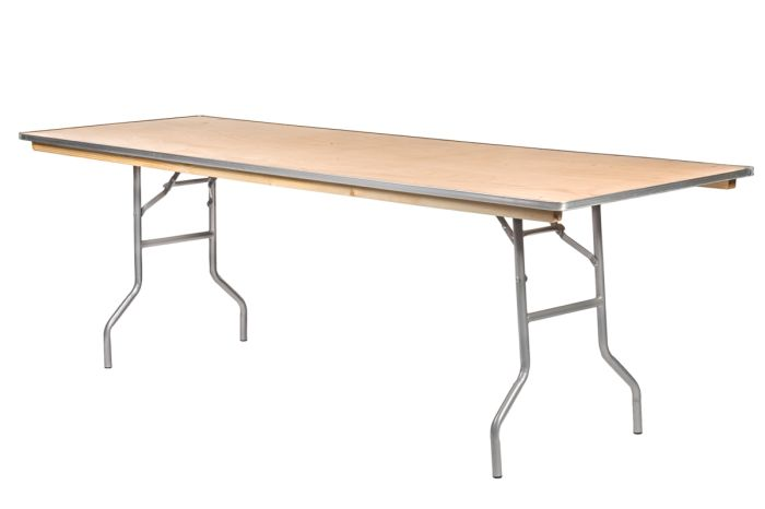 """96""""x30"""" Rectangle Heavy Duty Banquet Table with Metal Edges"""