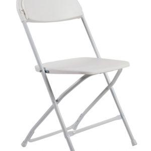 Folding Chair (Poly White)